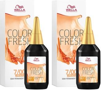 Wella Professionals Color Fresh Semi-Permanent Colour Natural Medium Blonde 75ml Duo Pack