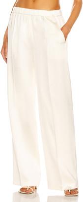 Magda Butrym Wide Leg Tailored Pant in Cream   FWRD