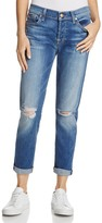 7 For All Mankind Distressed Josefina Boyfriend Jeans in Bella Heritage
