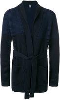 Eleventy ribbed belted cardigan - men - Virgin Wool - S