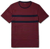 Club Monaco Striped Cotton-jersey T-shirt - Claret