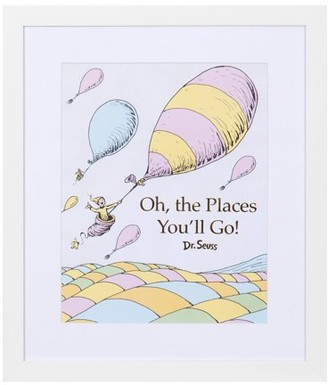 Patton Wall Decor Dr. Seuss Oh The Places You'll Go 12x14 Framed Print Wall Art