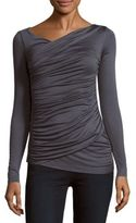 Bailey 44 Long-Sleeve Ruched Top