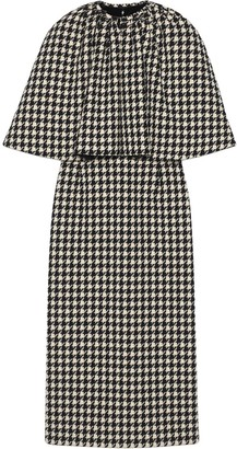 Gucci Houndstooth Cape Dress
