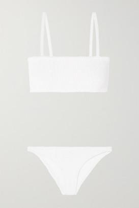 Hunza G Gigi Seersucker Bikini - White