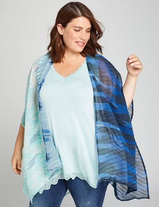 Lane Bryant Pleated-Texture Overpiece