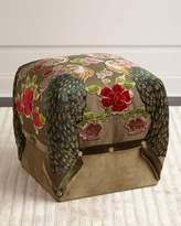 Haute House Peacock Cube Ottoman