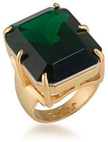 Trina Turk Cabaret Emerald-Cut Stone Cocktail Ring
