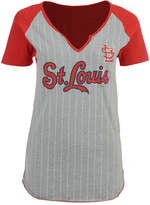 Majestic Women's St. Louis Cardinals From The Stretch Pinstripe T-Shirt