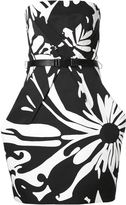 Kaufman Franco Kaufmanfranco monochrome print strapless dress