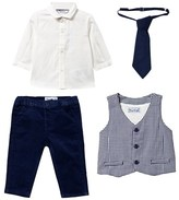 Mayoral 4 Piece Shirt, Waistcoat, Trousers and Tie Set