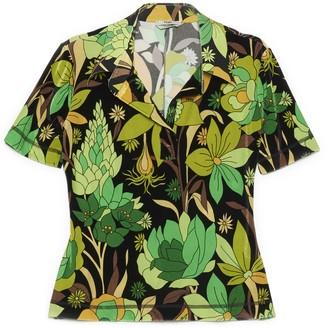 Fendi Floral Print Polo Shirt