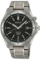 Seiko Ska493p1 Titanium Bracelet Strap Watch, Silver/black