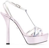Grey Mer strappy platform sandals