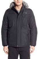 Point Zero Hooded Jacket with Faux Fur Trim