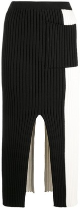 Proenza Schouler White Label PSWL colour-block knitted skirt