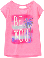 Gymboree Yoga Pink 'Be You' Palm Tree Graphic Active Tee - Girls