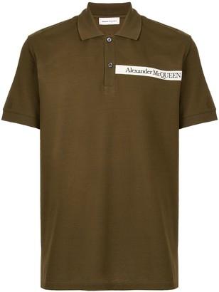 Alexander McQueen Logo-Tape Polo Shirt