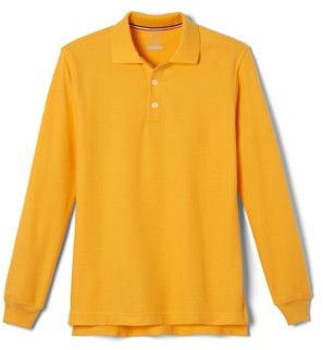 French Toast Boys School Uniform Long Sleeve Pique Polo Shirt, Sizes 4-20