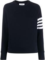 Thom Browne 4-Bar Raglan Sleeve Sweatshirt