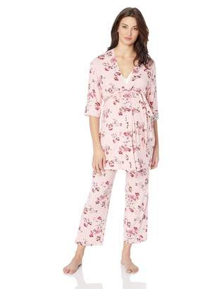 Everly Grey Women's Maternity Analise 5 Piece Nursing PJ for Mom and Baby