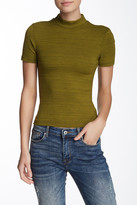 American Apparel Short Sleeve Mock Neck Shirt