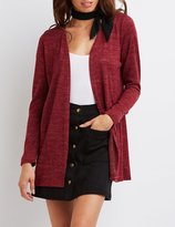 Charlotte Russe Marled Longline Cardigan