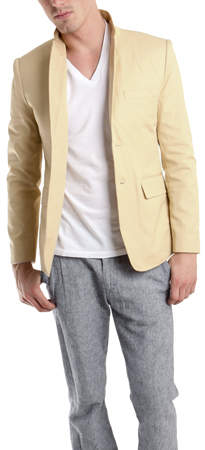 Shipley & Halmos Harrison Twill Jacket in Moon Khaki
