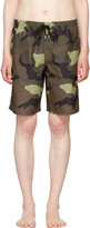 Givenchy Green Camo Swim Shorts