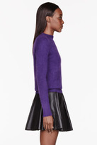 Balmain Violet buttoned Angora Sweater