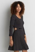 American Eagle Outfitters AE Soft & Sexy Cutout Fit & Flare Dress