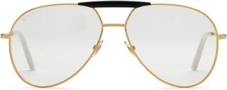 Gucci Aviator metal glasses