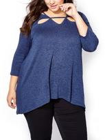 Penningtons d/c JEANS 3/4 Sleeve Swing Top with Cut-Outs