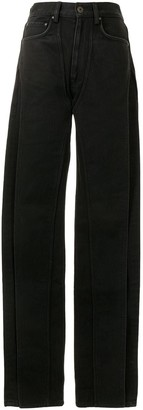 Y/Project High-Rise Straight Leg Jeans