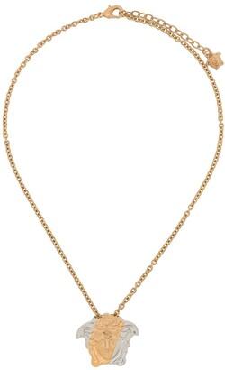 Versace two-tone Medusa pendant necklace