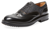 Antonio Maurizi Leather & Felt Wingtip Oxford
