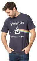 Weird Fish Big And Tall Navy 'carp Side Of The Moon' Print T-shirt