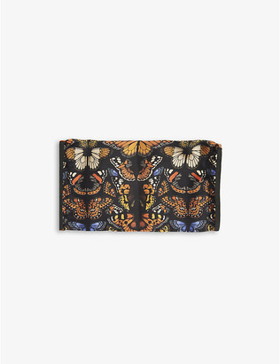 Emily Carter Ladies Black and White Butterfly-Print Silk Face Covering Mask