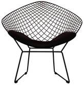 Ciel A Black Or Chrome Diamond Retro Modern Mesh Chair
