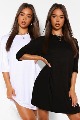 boohoo 2 Pack Oversized T-Shirt Dress