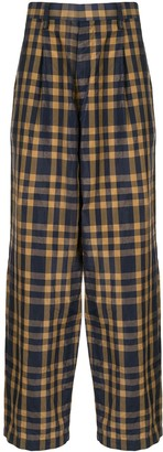 Kolor Check Straight Leg Trousers