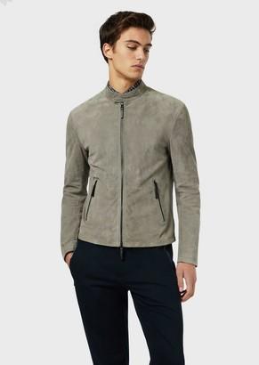 Emporio Armani Suede Goatskin Jacket