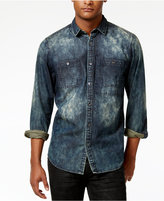INC International Concepts Men's Dino Denim Cotton Shirt, Only at Macy's
