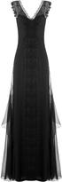 Alberta Ferretti Floor Length Embroidered Silk Gown