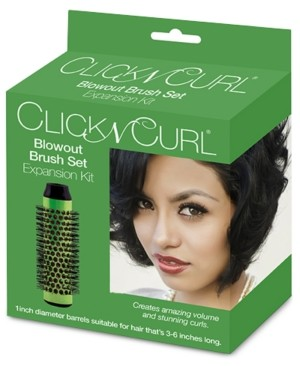 "Bio Ionic Click N Curl 1"" Blowout Brush Set Expansion Kit Bedding"