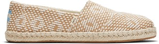 Toms Yellow Geometric Woven Women's Espadrilles