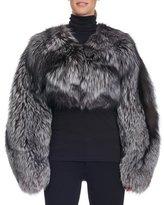 Michael Kors Cropped Collarless Fox Fur Jacket