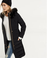 Express down filled long belted puffer coat