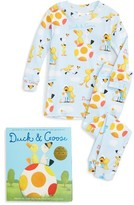 Boy's Books To Bed Duck & Goose Two-Piece Fitted Pajamas & Book Set