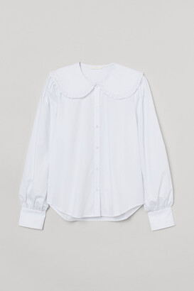 H&M Large-collared Blouse